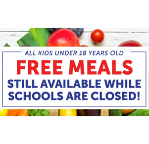 Select Free Meals Available While Schools Closed