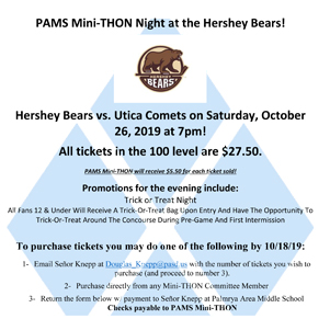 Select PAMS Mini-THON Night at the Hershey Bears