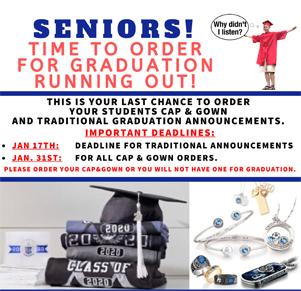Select Time to Order your graduation gown is running out
