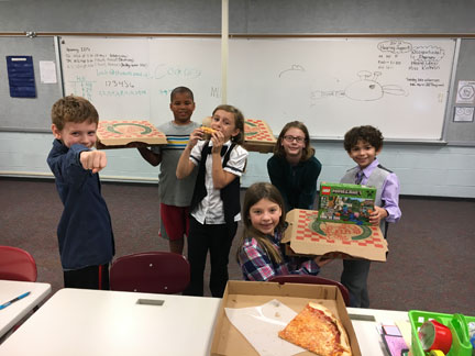 Northside Coders rewarded with pizza