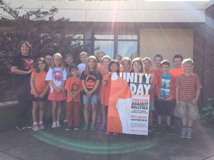 Mrs. Salvo's class supported Unity Day