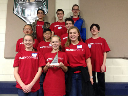 MS Math Counts Team Competes