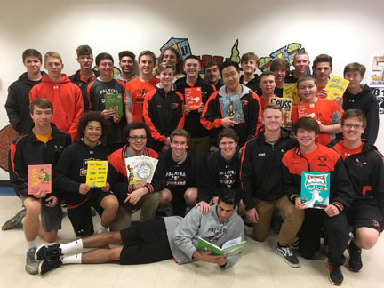 PHS Boys Lacrosse team reads to Forge