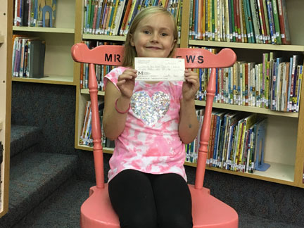 Cheyenne makes donation to NS Library