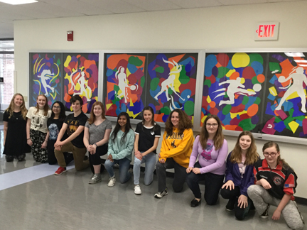 MS Students Create a Unique Art Display