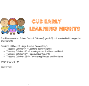 Select CUB Early Learning Nights