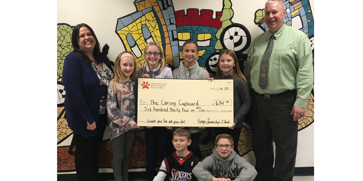 FR Leadership Club presented Caring Cupboard a check for $634.00
